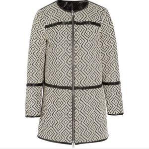 Tory Burch Jade reversible jacquard jacket coat XS